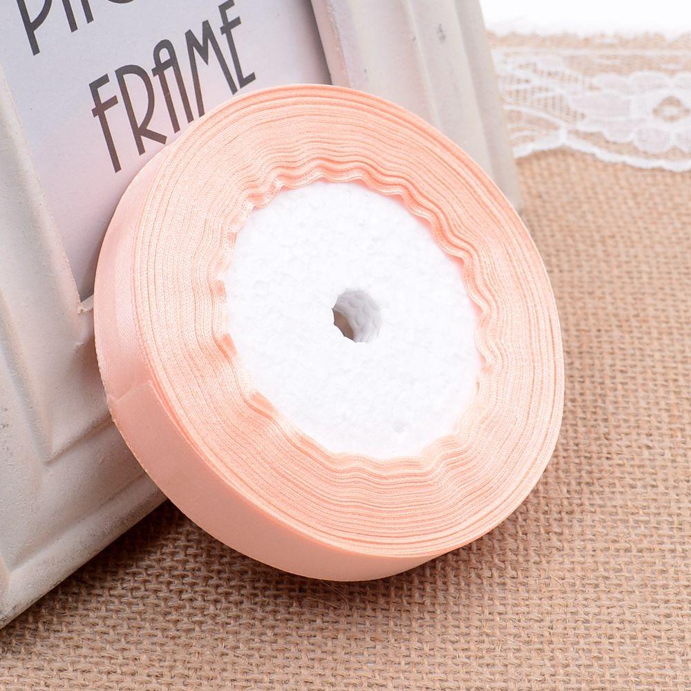 Ткань 10 мм 25 ярдов Белый Шелковый Атласный органза полиэстер лента для шитья Свадебная вечеринка украшение тесьма для рукоделия Подарочный упаковочный пояс - Цвет: 23