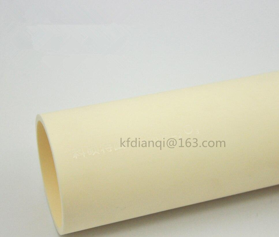 OD * ID * L = 50*40*1000mm/99.5% alumine de haute pureté avancée céramique/Tube de traitement de four réfractaire/une des deux extrémités