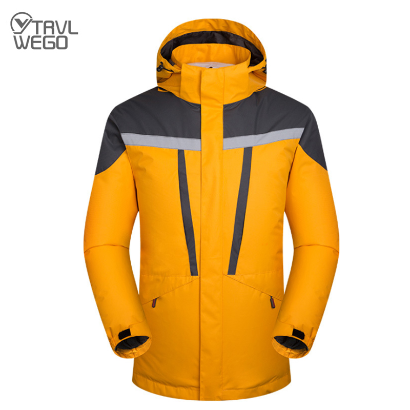 TRVLWEGO hiver veste de Ski homme veste de snowboard homme doublure amovible homme Sport imperméable 3 en 1 manteau de Ski chaud