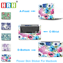 HRH 2017 Flower Vinyl Decal Laptop Sticker for Macbook Air Pro Retina 11 12 13 15 Inch Laptop Skin for Macbook Air 13 Sticker цена и фото