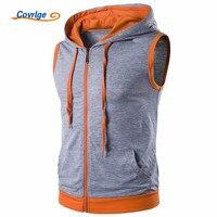 Covrlge Hoodies Men Summer New Men S Hooded Sweatshirt Sleeveless Hoodie Fashion Mens Tracksuit Vest Sportswear