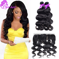 Peruvian Virgin Hair Body Wave With Lace Frontal Closure Virgin Unprocessed Peruvian Body Wave 13x4 Ear To Ear Lace Frontal