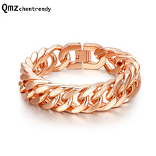High Quality Titanium IP Rose Gold Twisted Bracelets Punk Bangle Trendsetter Jewelry Rock Rapper Men Women Accessories