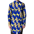 Изысканный портной африканский печати рубашки мужчин slim fit длинные рубашки асимметричный дизайн dashiki одежда африке clothing персональных пользовательских