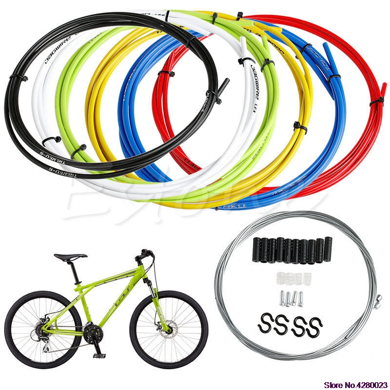 Bicycle Bike Road Brake Cable Set W// innerwires /& housing 1 front 1 rear White