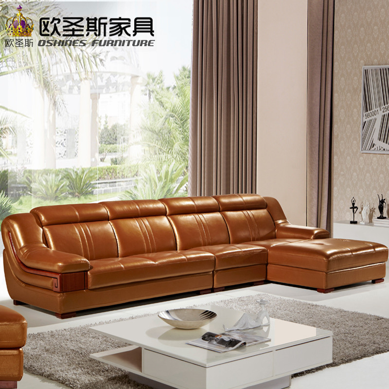 Funitures: Wooden Decoration L Shape Sofa Furniture Modern Lobby Sofa