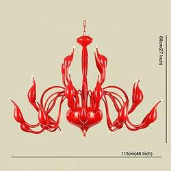 Luksusowy nowoczesny żyrandol światła 24 światła LED G4 czerwony obraz/żarówka w zestawie/salon/sypialnia darmowa wysyłka