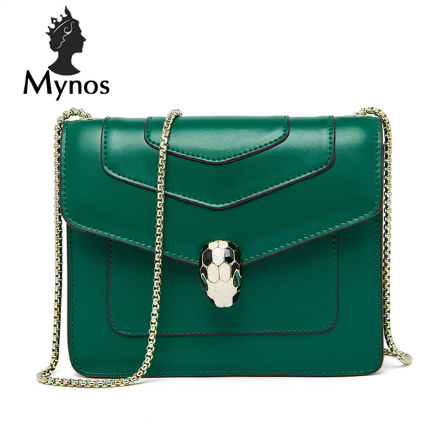 MYNOS Luxury Famous Brand Designer Cowhide Leather Women Tote Women Messenger Bag  Crossbody Bags For Women SAC A MAIN Femme