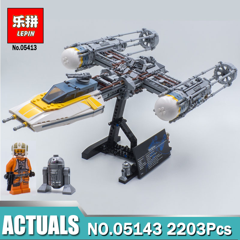 Lepin 05143 Star Series Wars The Y set wing Starfighter Model Compatible LegoINGlys 75181 Building Blocks Toys For Children Gift