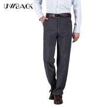 Uwback/летние штаны для повседневной носки Для мужчин дышащие свободные polyster Мотобрюки плюс Размеры 30-40 Мода 2017 г. мужской Брюки для девочек серый DBA037