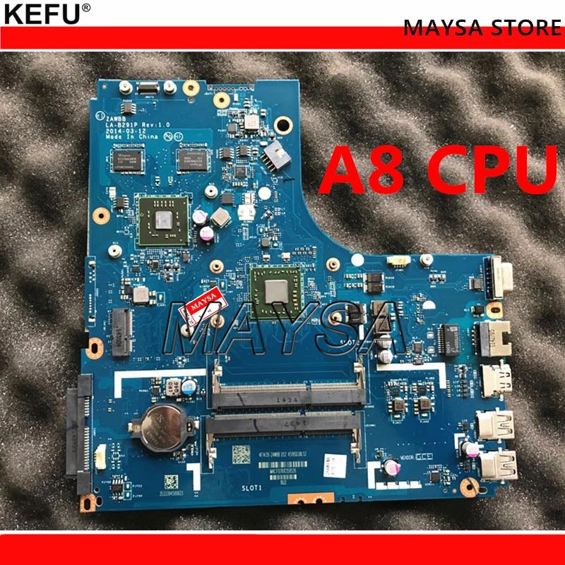 Laptop Motherboard For LENOVO B50-45 A8-6410 PC Mainboard ZAWBA/BB LA-B291P Tesed DDR3