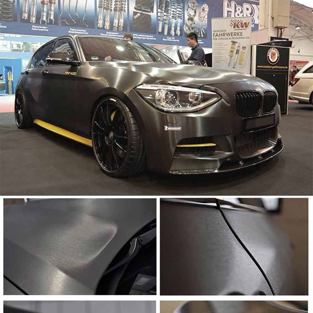 Image 3 - 30*152cm Car Styling Matt Brushed Car Wrap Vinyl Film Sheet Bubble Free Air Release Motorcycle Automobiles Car Stickers Decal-in Car Stickers from Automobiles & Motorcycles