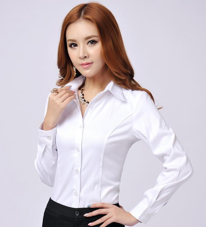 New 2018 Autumn Spring Novelty Formal Women Shirts Long