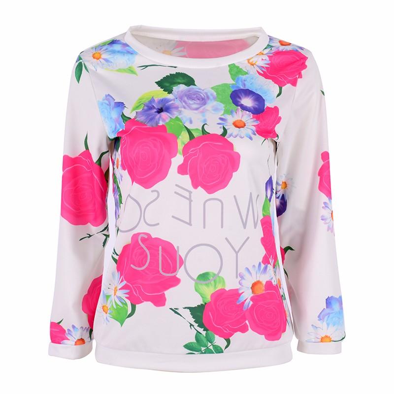 HTB1FQNcMXXXXXcmXVXXq6xXFXXXb - Autumn Women Girl Long Sleeve Floral Print T Shirts