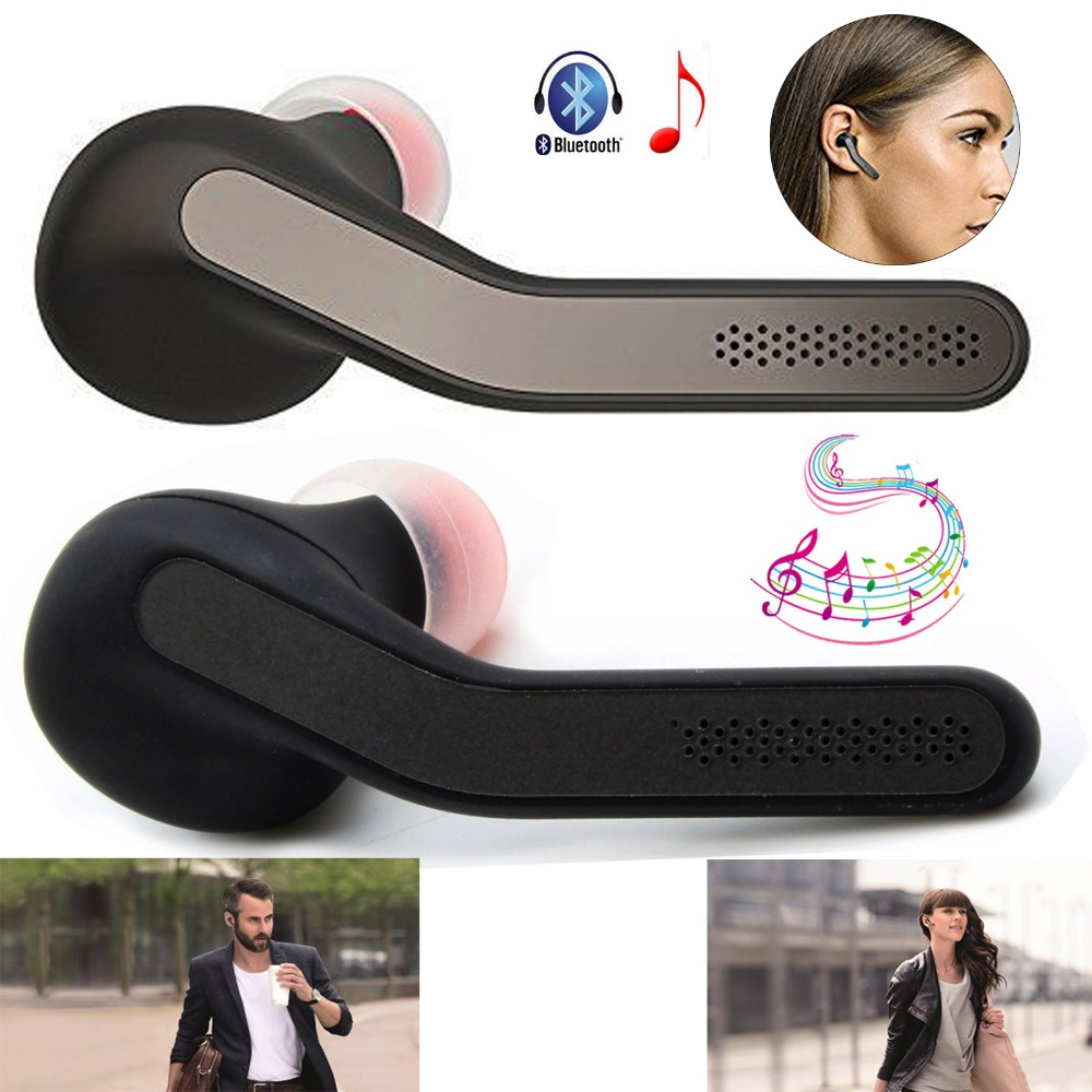 Wireless Bluetooth Headset Stereo Headphone Hifi Earphone With Mic Handsfree Earpiece For Samsung iPhone LG HTC Motorola Huawei