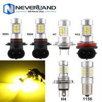 Super Bright 3000K Yellow 9006 HB4 44W Car LED Headlight Bulbs Fog Lamps With 3030SMD Led