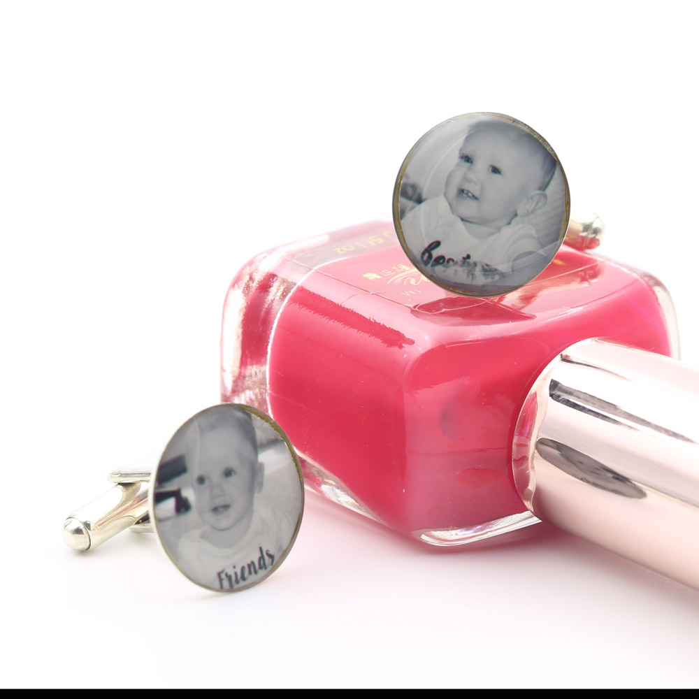 Baby Photo Personalized Cufflinks 925 Solid Silver Memorial Cufflinks Engagment Gift Sporty Cloth Accessory все цены