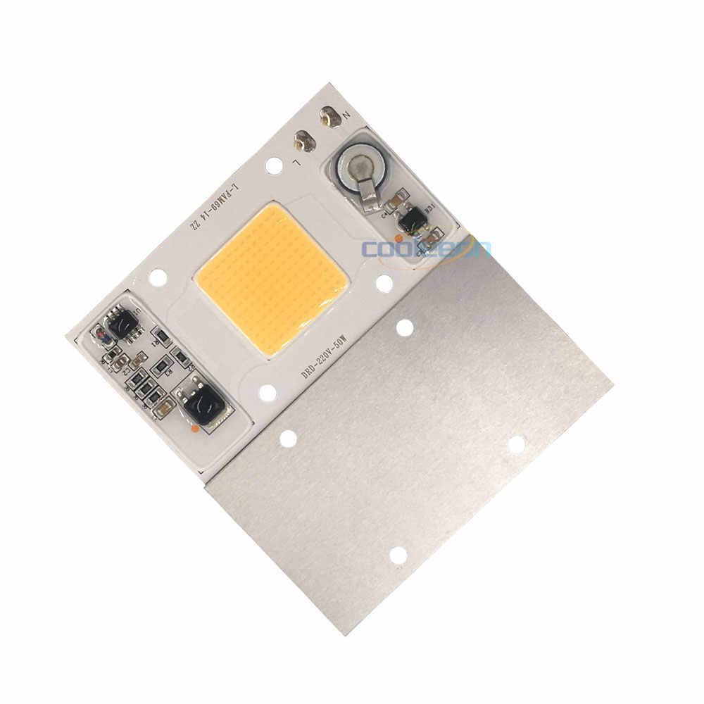 הגעה חדשה גבוהה RA 50W COB LED מנורת AC 220V ספקטרום מלא ללא נהג LED הנורה לצמחים לגדול אור זרקורי 95% CRI חכם IC