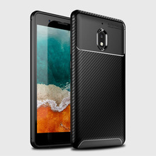 Case For Nokia 2.1 / 2V Carbon Fiber TPU Gel Slim Thin Scratch Resistant Anti Fingerprint Back Cover 2v 2018