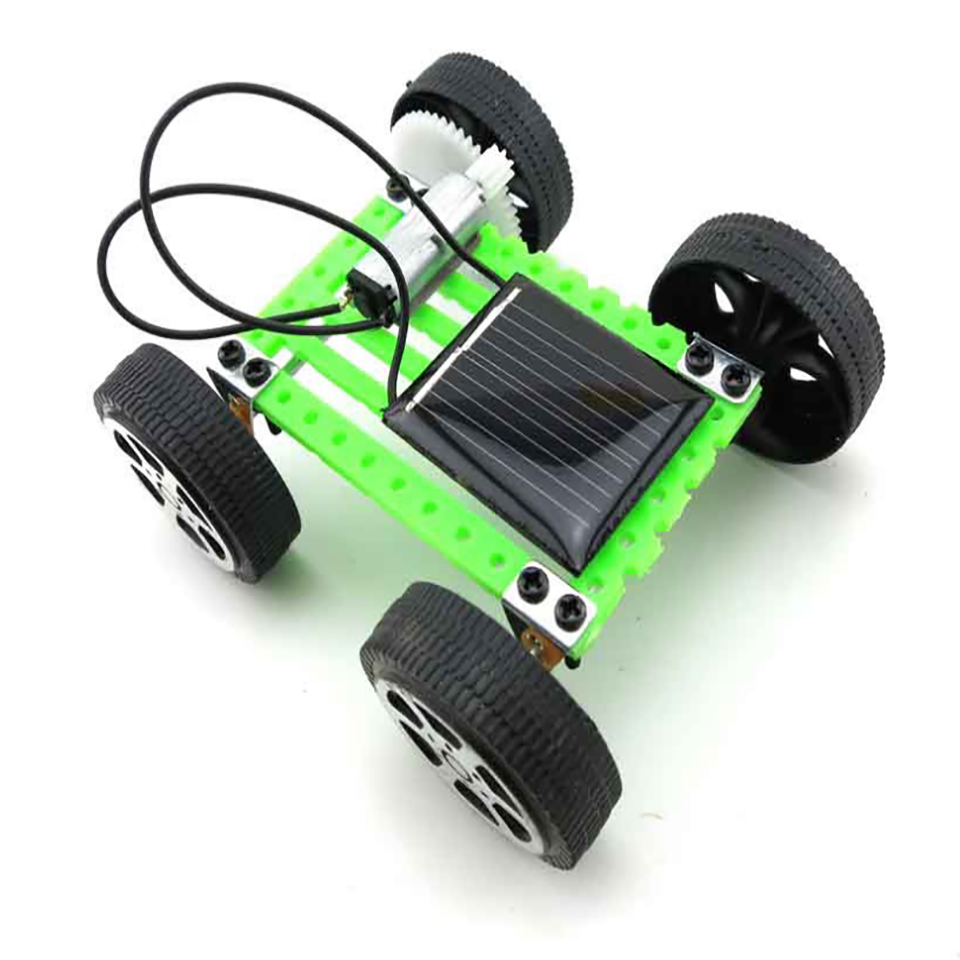 solar power electric car model building kits blocks assembly diy montessori educational puzzle toys fun for kids children boys