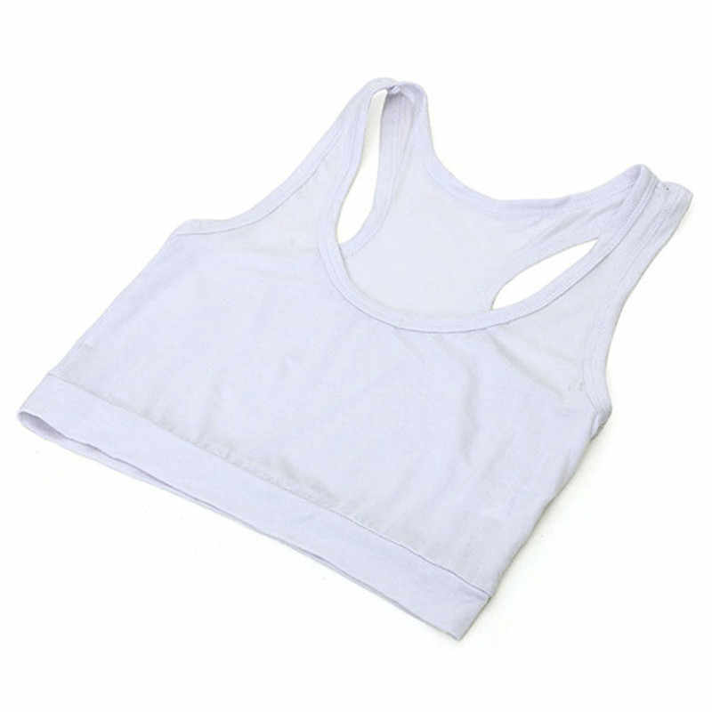 99edca4af6 ... Womens Cotton Wrapped Chest Sports Bra Tube Top Semi Vest Cropped Tops  j2s