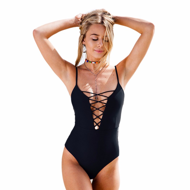 One Piece Swimsuit 2017 Summer Beach Vintage Wear Bandage Monokini Swimsuit Sexy Swimwear Women Bodysuit Bathing Suit Swimsuit 8