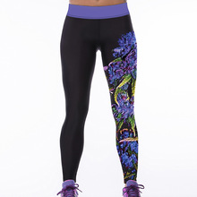 6 Colors S-4XL Women's Fitness Leggins Digital Printed Workout Polyester Bodybuilding Quick Dry Leggings Elastic Slim Pants