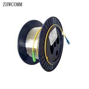 Image 1 - Zhwcomm sc المفردة واحدة قياس العارية الألياف otdr الألياف البصرية كابل 1 كيلومتر 9/125 otdr اختبار الألياف الضوئية بكرات