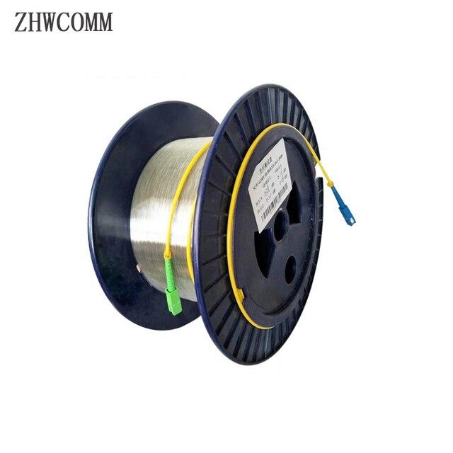 Zhwcomm sc المفردة واحدة قياس العارية الألياف otdr الألياف البصرية كابل 1 كيلومتر 9/125 otdr اختبار الألياف الضوئية بكرات