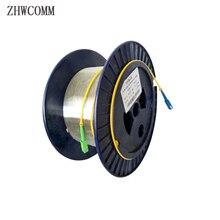 Zhwcomm sc singlemode única fibra nua otdr cabo de fibra óptica de medição 1 km 9/125 teste otdr carretéis de fibra óptica