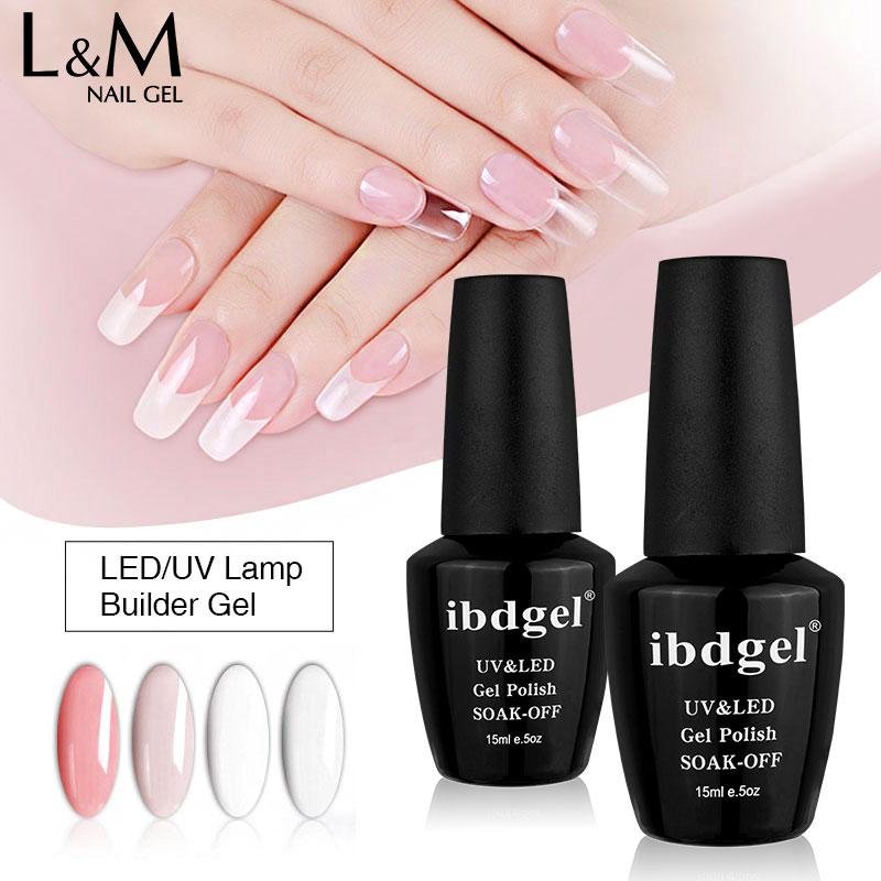 Быстросохнущий УФ-гель ibdgel для наращивания ногтей, 1 шт., 15 мл, жесткий Укрепляющий гель для наращивания ногтей, 6 цветов
