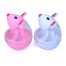 Funny Cat Toys Rat Leaking Food Tumbler Ball Pet Toy Cartoon Device For Cats Chihuahua Chew Goods Pets
