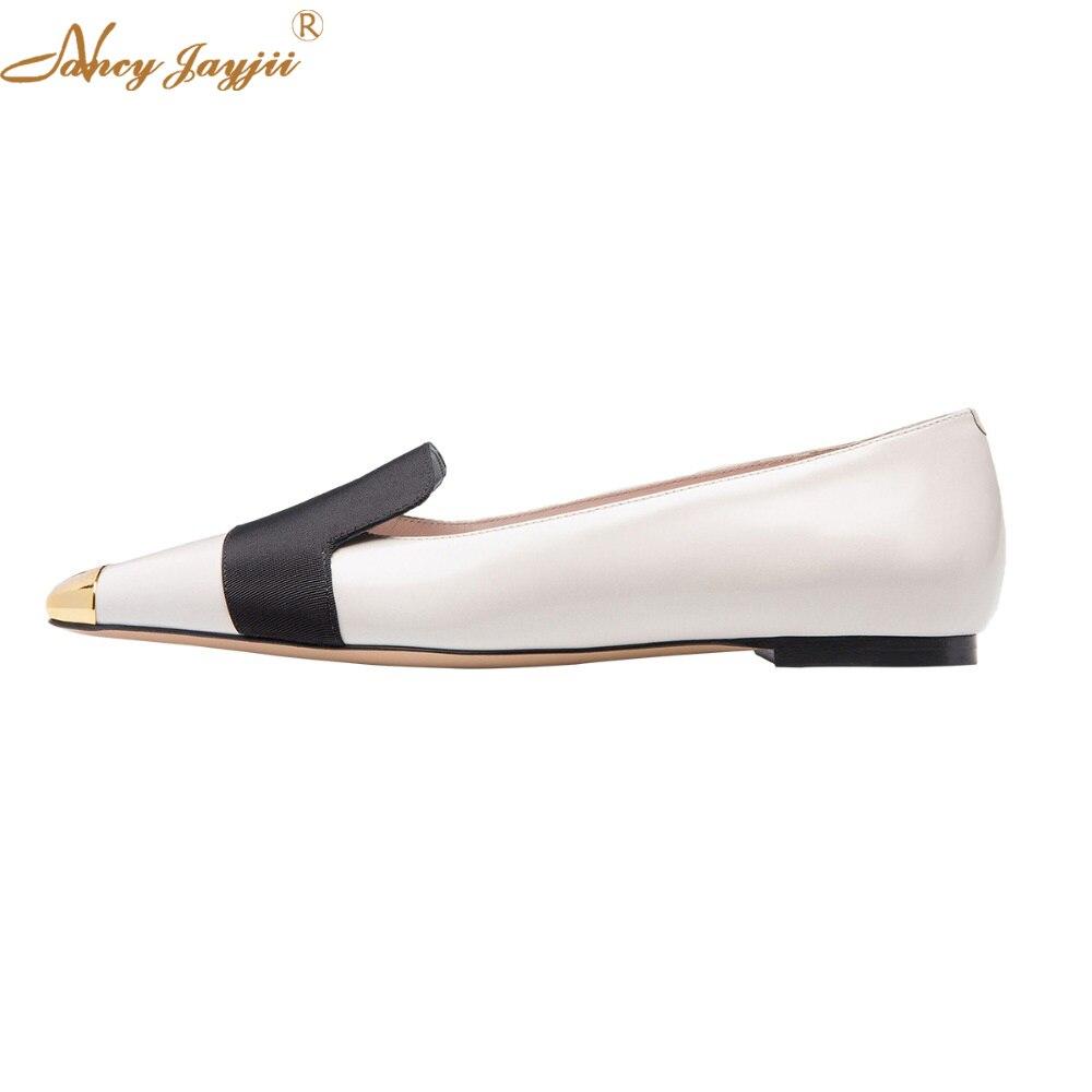 Casual Femmes Classique Chaussures Glissement Pour Nancyjayjii Bout Conçu Ty01 Carré Robe Travail 2018 Des Confort Élégant Femme Automne Sur Appartements 6qwS5xRSEY