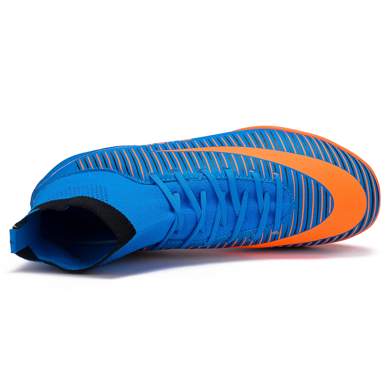 a51e99ea7 LEOCI Boys  High Ankle Football Boots Kids Turf Sole Indoor Cleats Shoes  Girls Soccer Cleats voetbalschoenen Eur size 31 40-in Athletic Shoes from  Mother ...