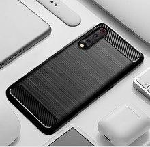 Silicone Carbon Phone case For Xiaomi Mi 9 Se 9T Pro Fiber TPU Back Cover Xiaomimi Mi9 Mi9T Mi9se 9pro Mi9Pro Soft Rugged Armor