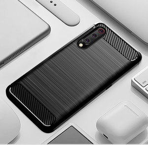Image 1 - Silicone Carbon Phone case For Xiaomi Mi 9 Se 9T Pro Fiber TPU Back Cover Xiaomimi Mi9 Mi9T Mi9se 9pro Mi9Pro Soft Rugged Armor