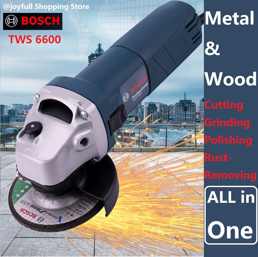 BOSCH Angle Grinder Grinding Machine Metal Polisher Angular Power Tool Grinding Metal Wood cutting Machine 100mm grinding disc