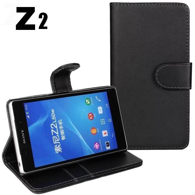 for Sony Xperia Z2 case wallet cover card slot holder magnetic flip pu leather case for Sony Xperia Z2 D6503 D6502 case bag