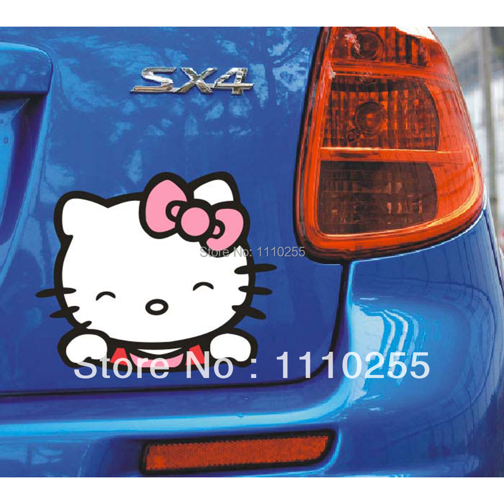 Car sticker family maker - Funny Hello Kitty Car Stickers Car Decal 14 X 12 Cm For Toyota Ford Chevrolet Volkswagen