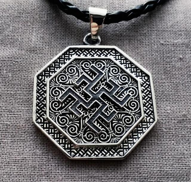 10pcs Wholesale Fern Flower Pendant Ancient Slavic Amulet Symbol