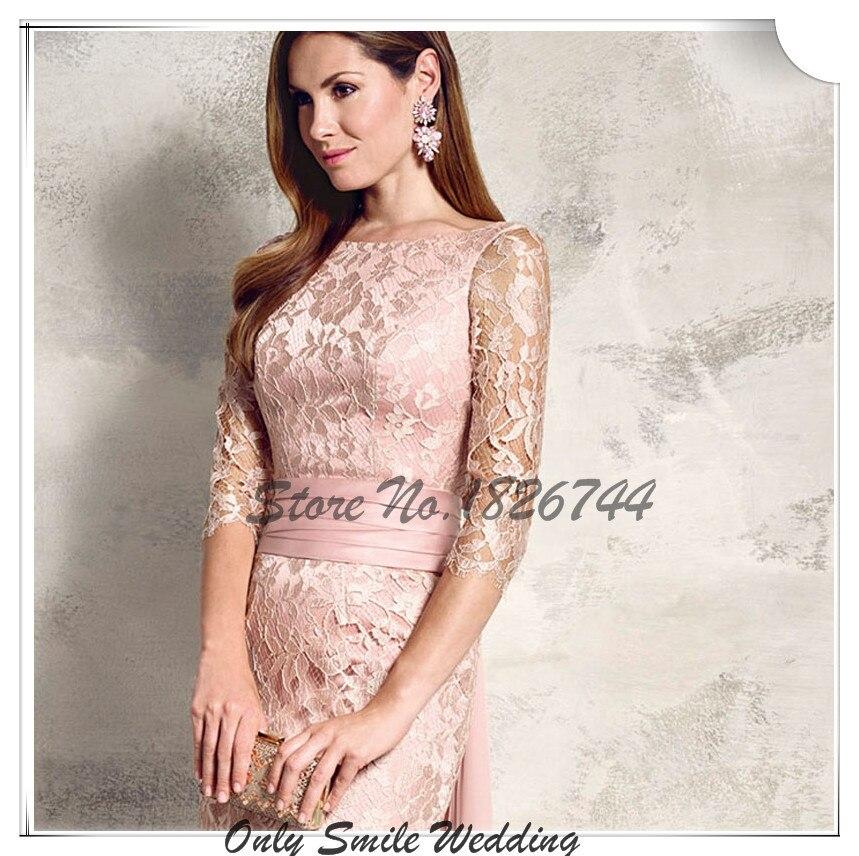 3 4 Sleeve Light Pink Dresses