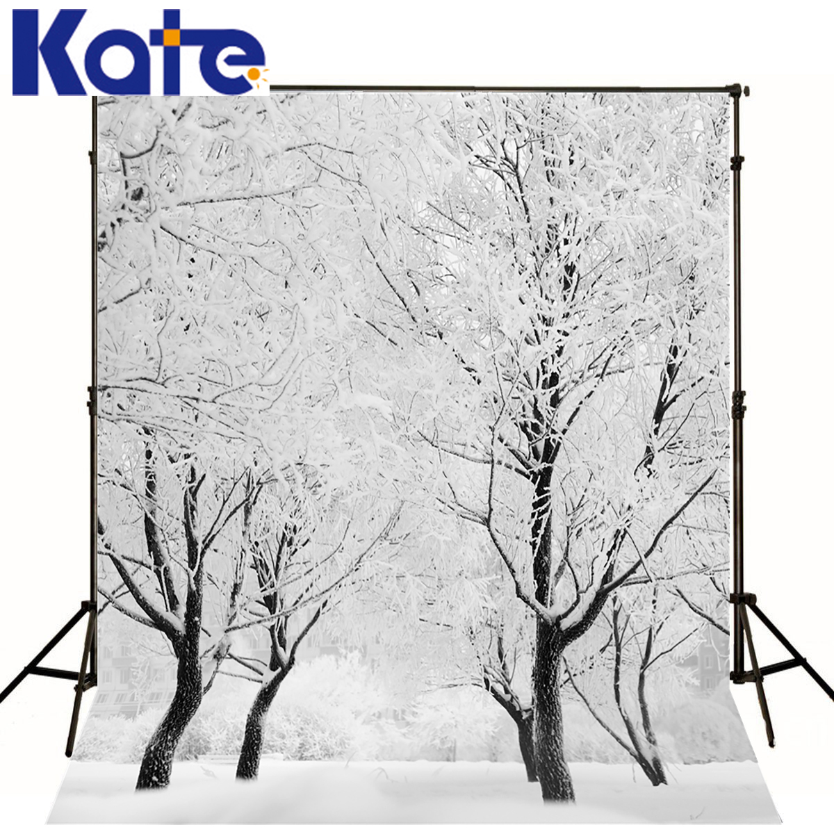 KATE Photography Backdrop Winter White Snow Forest  Scenery Photography Background Branch Snowstorm Backdrop Photography Studio kate photography backdrop winter snow tree castle scenery photography background lighting spot dream backdrops studio