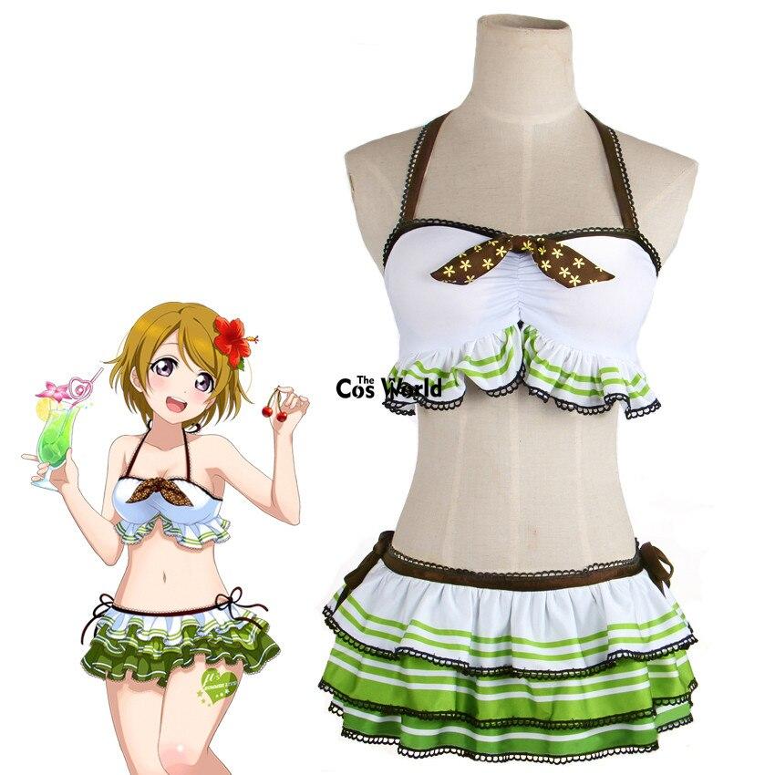 Love Live School Idol Project Koizumi Hanayo Swimwear Swimsuit Bathing Suit Bikini Tube Tops Skirt Anime Cosplay Costumes