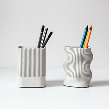 Concrete pen holder silicone mold multi-functional cement st