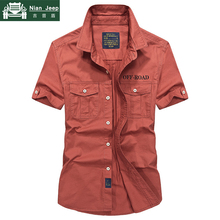 AFS ZDJP Brand Casual Shirts Men Spring Summer 100% Cotton Short Sleev