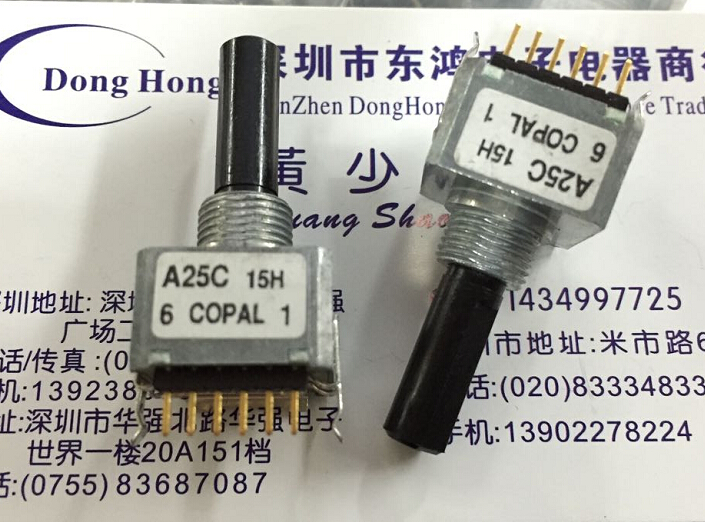 1pcs/lot COPAL cobio REC16A25-201-C encoder with switch encoder medical instrument [bella]genuine imported from japan alps encoder em20b4014a01 40 4 stepping with light switch 1pcs lot