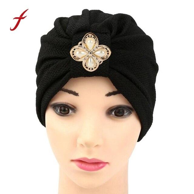 Femmes Diamants Musulmans Volants Cancer Chimio Chapeau Bonnet Écharpe  Turban Tête Wrap Casquette Chapeaux Pour Les 14591469eb6
