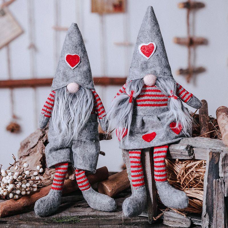 Various Styles Handmade Swedish Christmas Santa Gnome Plush Doll Holiday Figurines Toy Xmas Home Ornaments