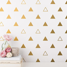 Cute Mixed Triangles Wall Sticker Baby Nursery Decal Hollow Decor Easy Art Cut Vinyl  P8-2