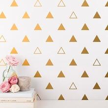 Cute Mixed Triangles Wall Sticker Baby Nursery Triangles Wall Decal Hollow Triangles Wall Decor Easy Wall Art Cut Vinyl  P8-2 walker рюкзак детский delta classic twisted triangles
